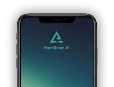 Mobile phone image with examroom logo